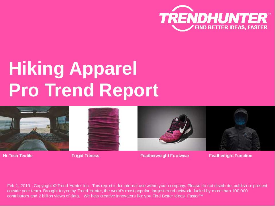 Hiking Apparel Trend Report Research