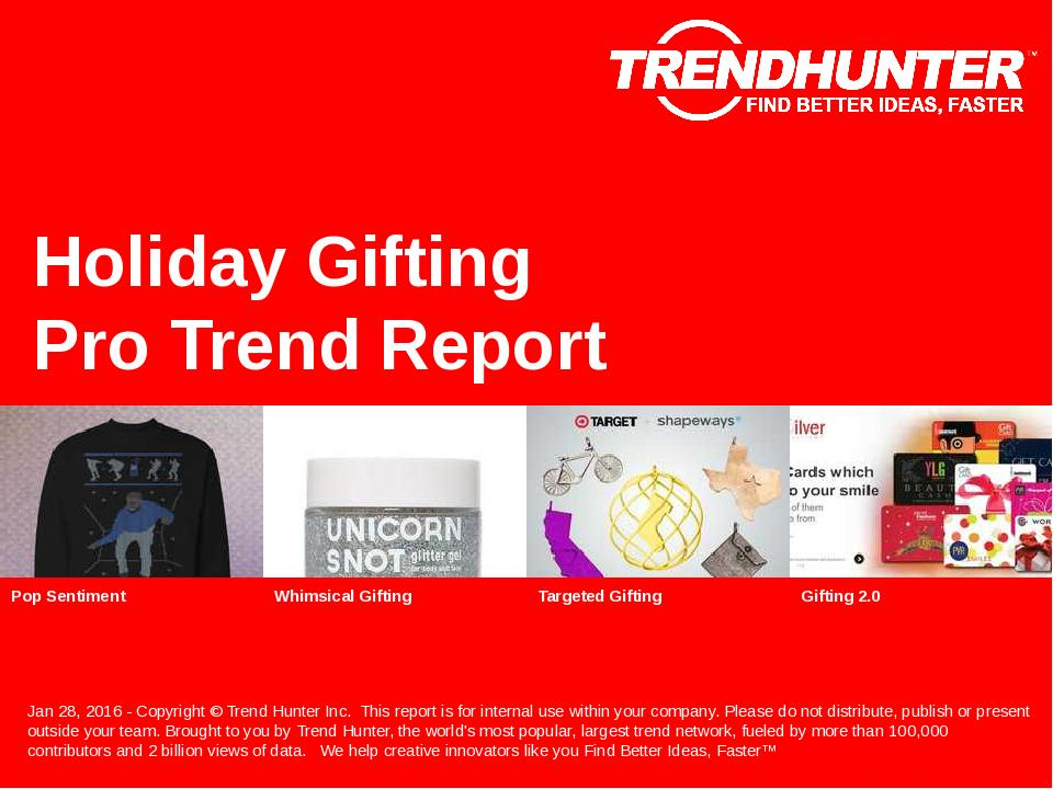 Holiday Gifting Trend Report Research