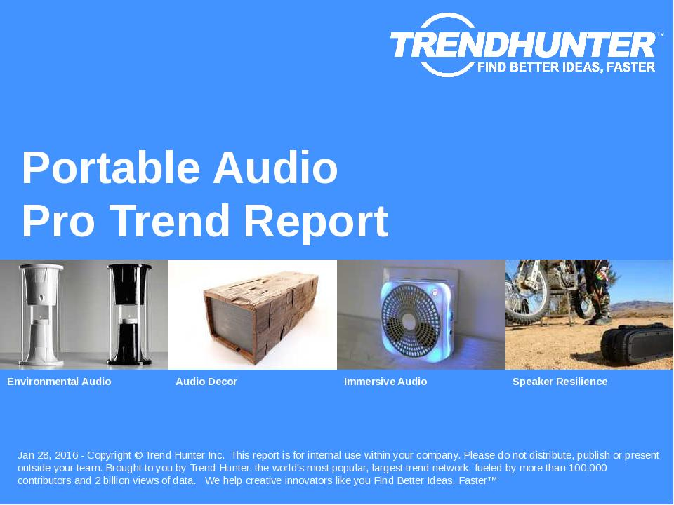 Portable Audio Trend Report Research