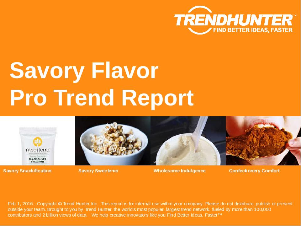 Savory Flavor Trend Report Research