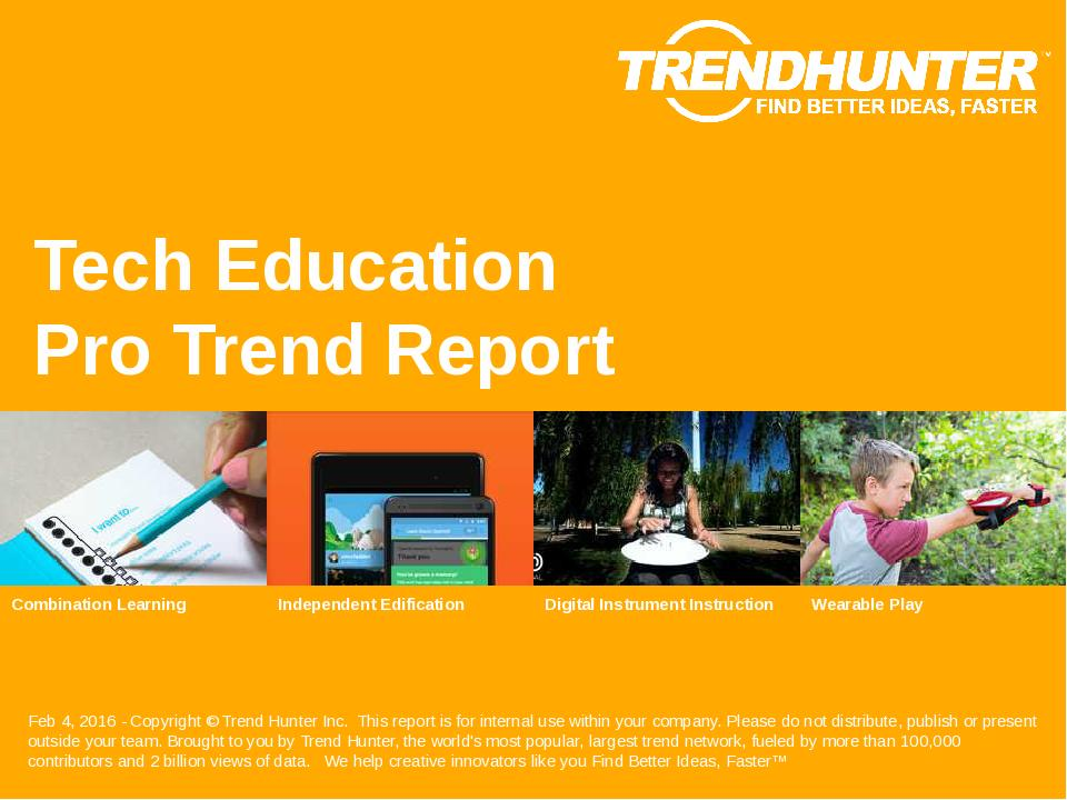Tech Education Trend Report Research