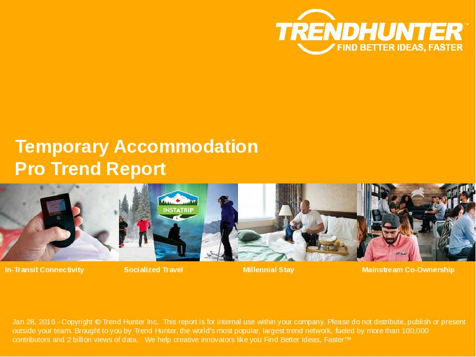 Temporary Accommodation Trend Report Research