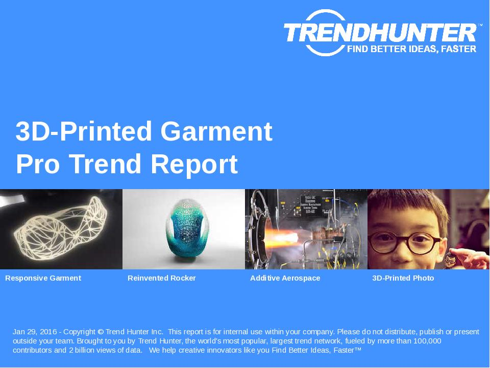 3D-Printed Garment Trend Report Research