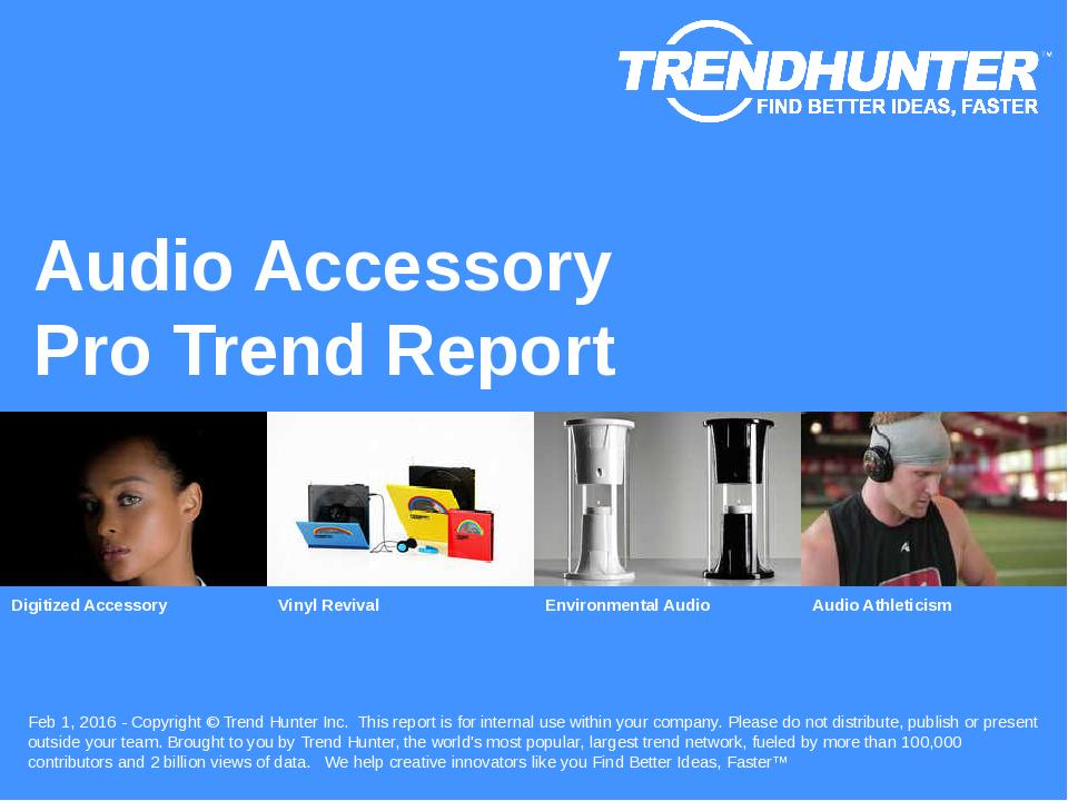 Audio Accessory Trend Report Research