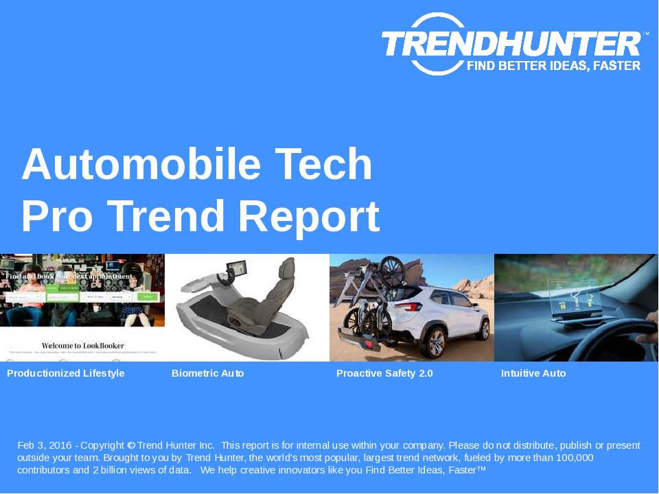Automobile Tech Trend Report Research