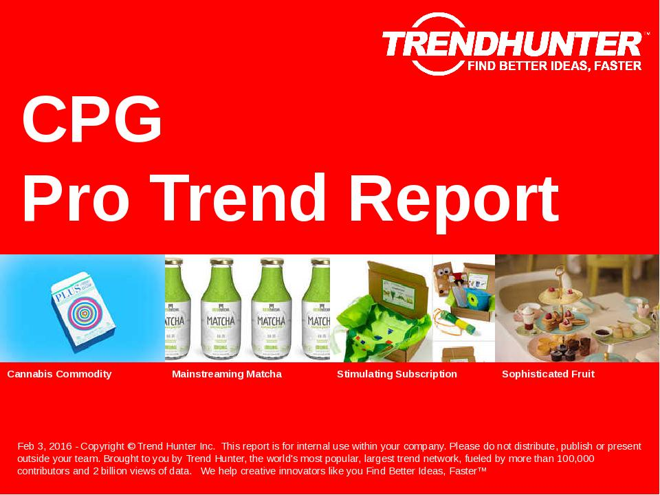 CPG Trend Report Research