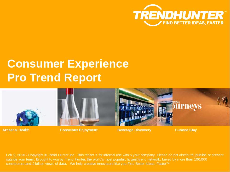 Consumer Experience Trend Report Research