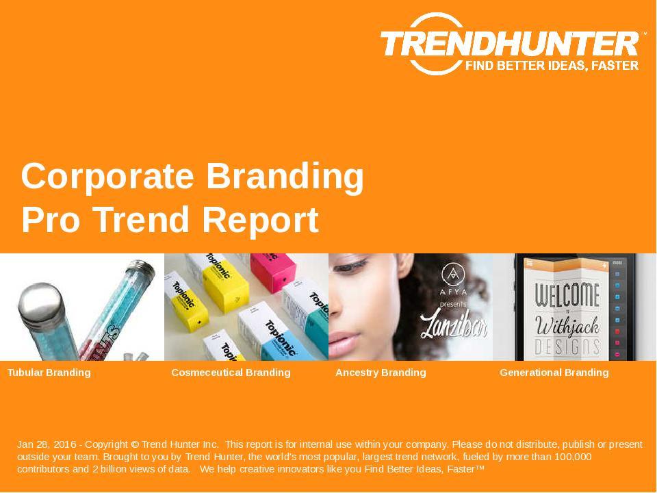 Corporate Branding Trend Report Research