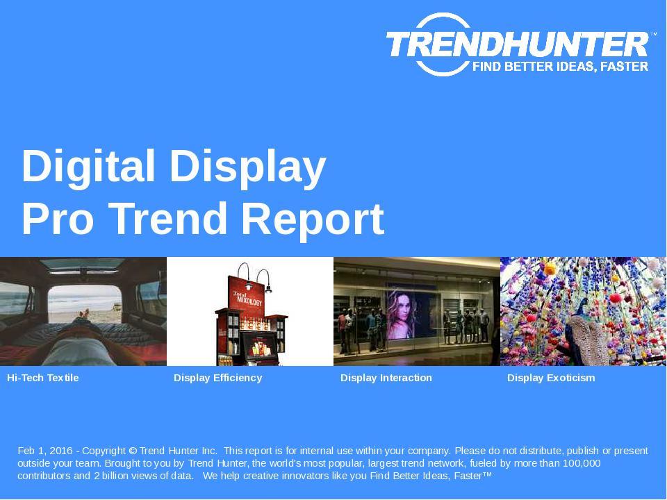 Digital Display Trend Report Research