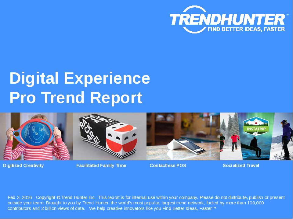 Digital Experience Trend Report Research