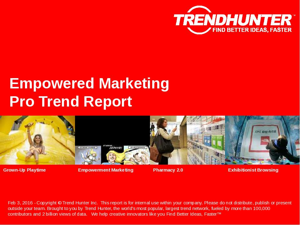 Empowered Marketing Trend Report Research