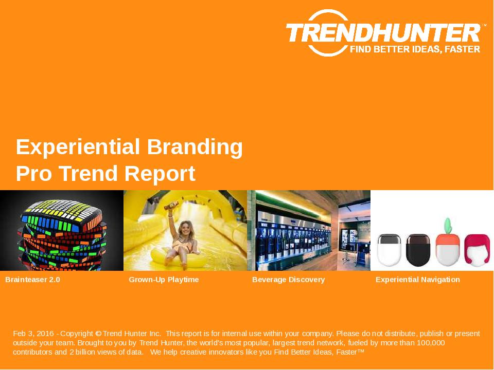 Experiential Branding Trend Report Research