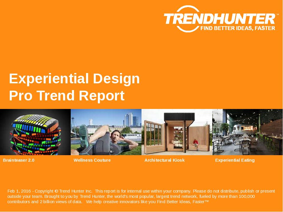 Experiential Design Trend Report Research