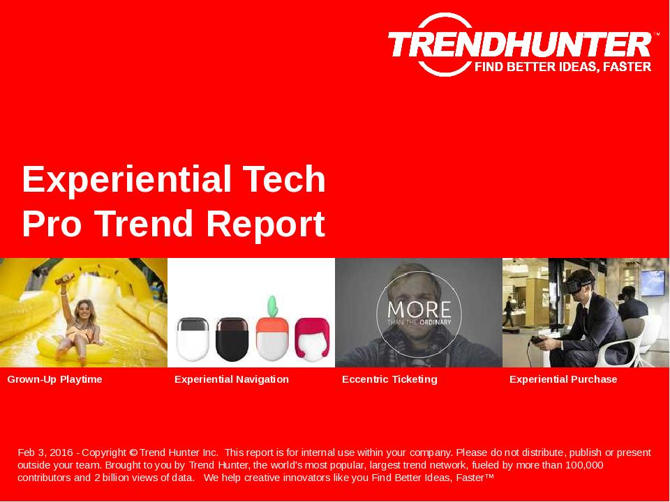 Experiential Tech Trend Report Research