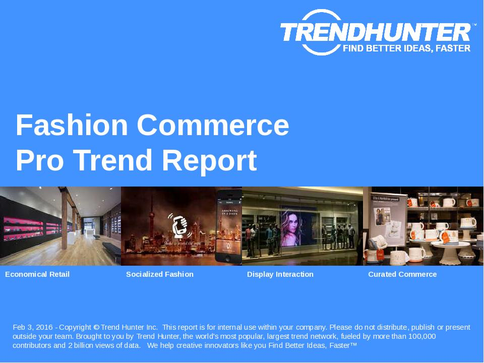 Fashion Commerce Trend Report Research