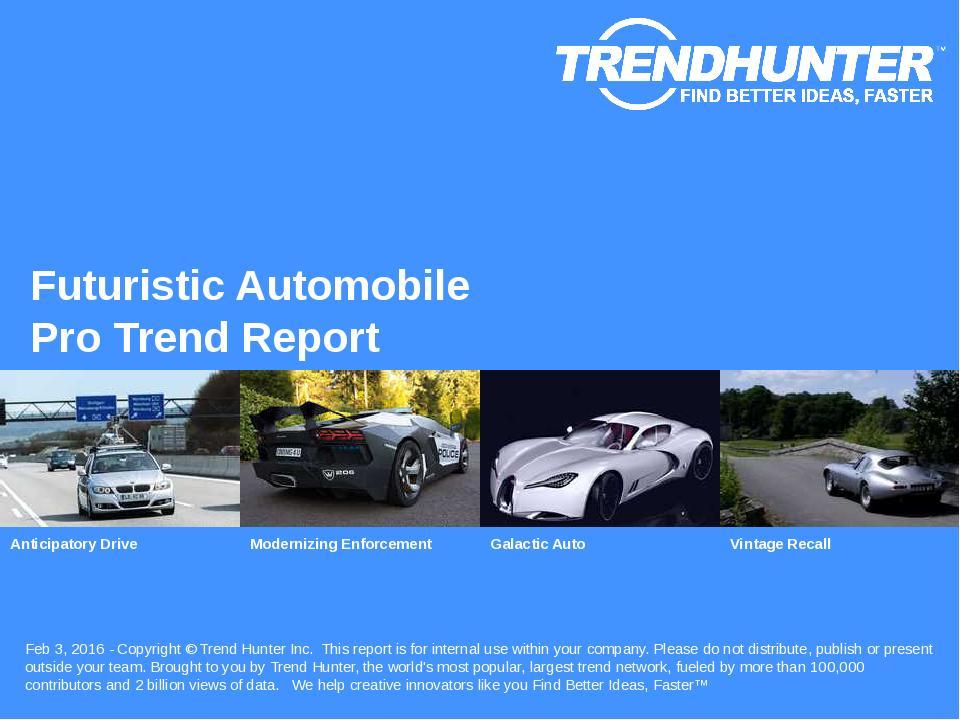 Futuristic Automobile Trend Report Research