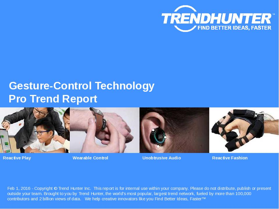 Gesture-Control Technology Trend Report Research
