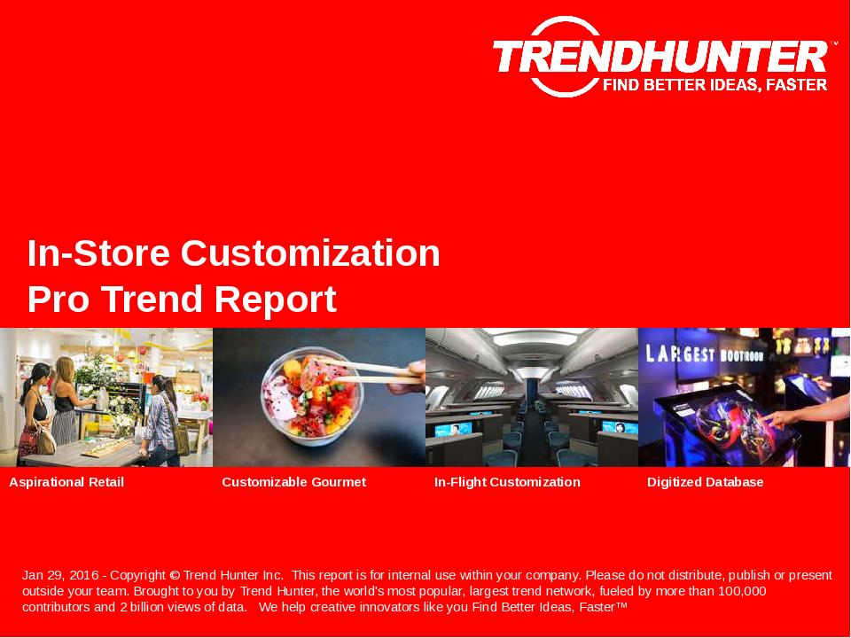 In-Store Customization Trend Report Research