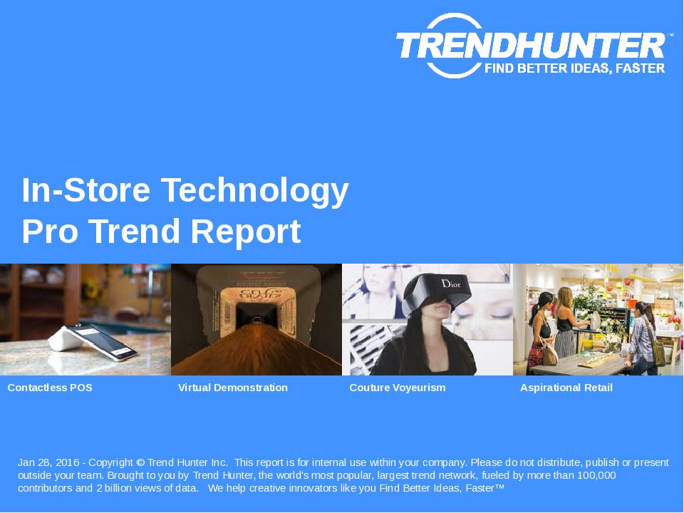 In-Store Technology Trend Report Research