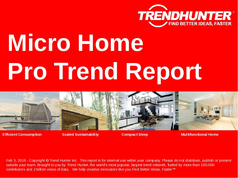Micro Home Trend Report Research