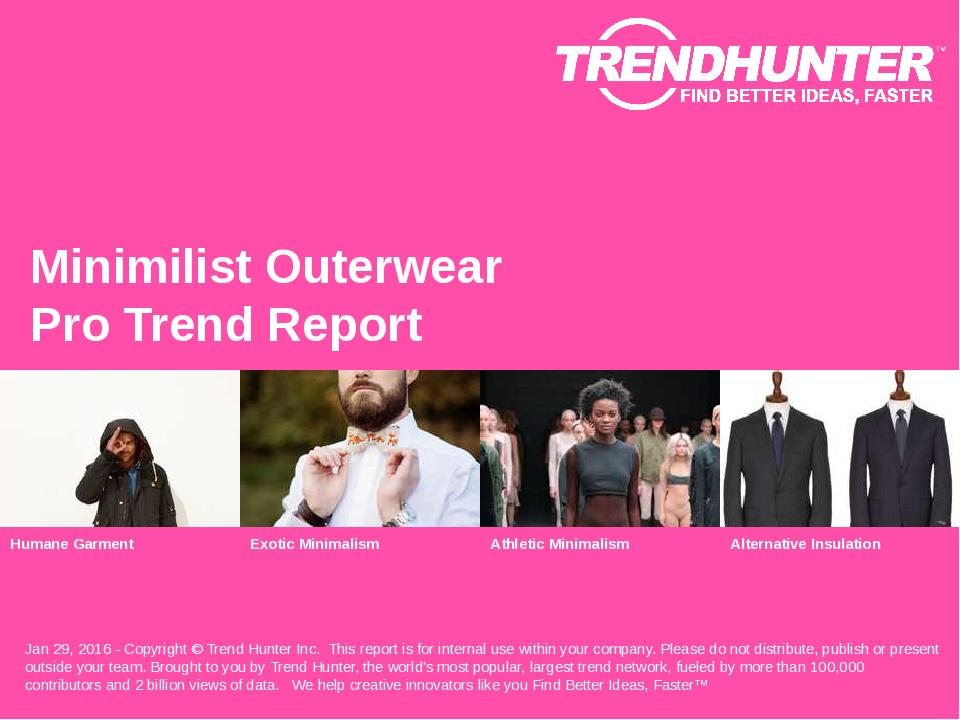 Minimilist Outerwear Trend Report Research