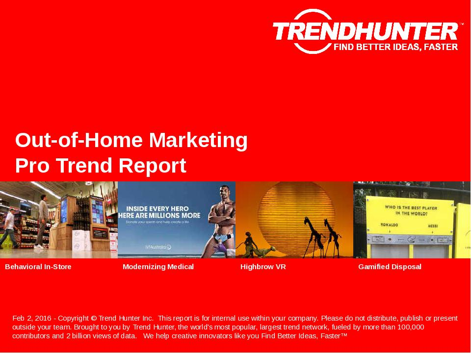 Out-of-Home Marketing Trend Report Research
