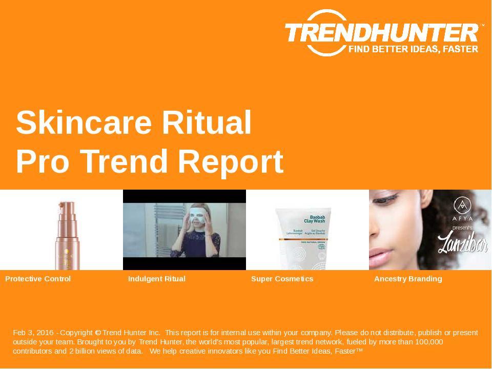 Skincare Ritual Trend Report Research