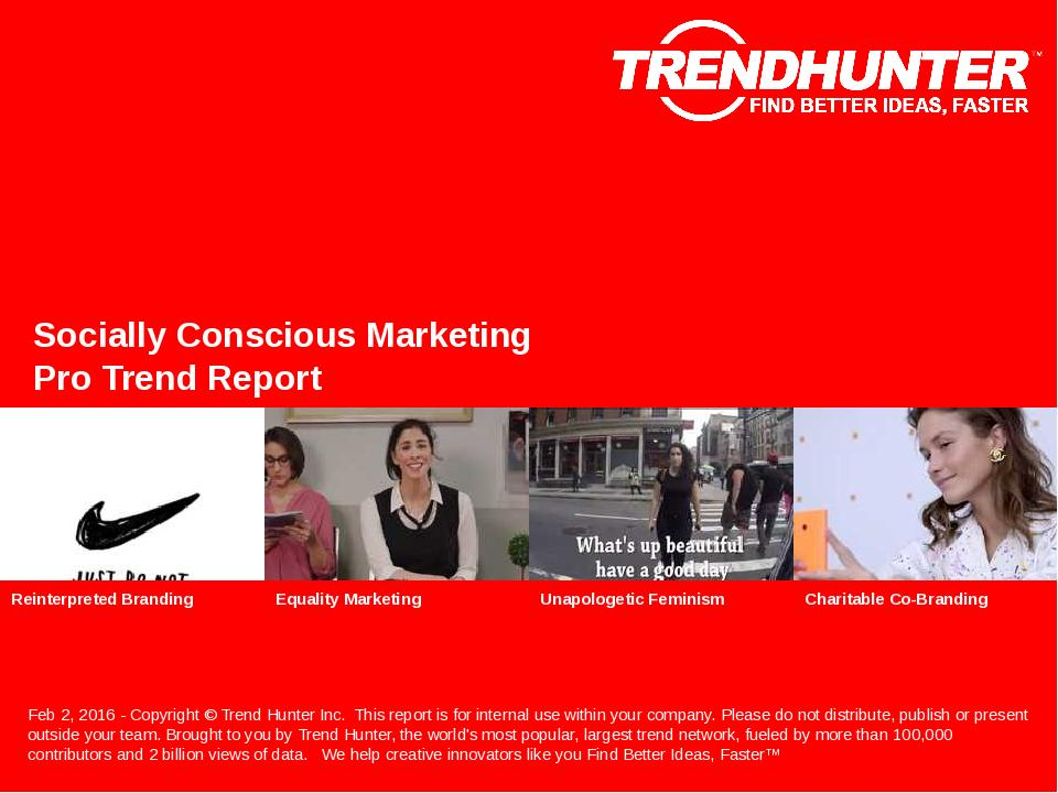 Socially Conscious Marketing Trend Report Research