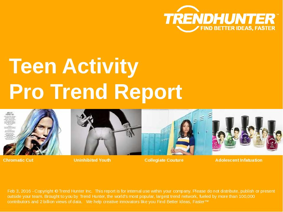 Teen Activity Trend Report Research