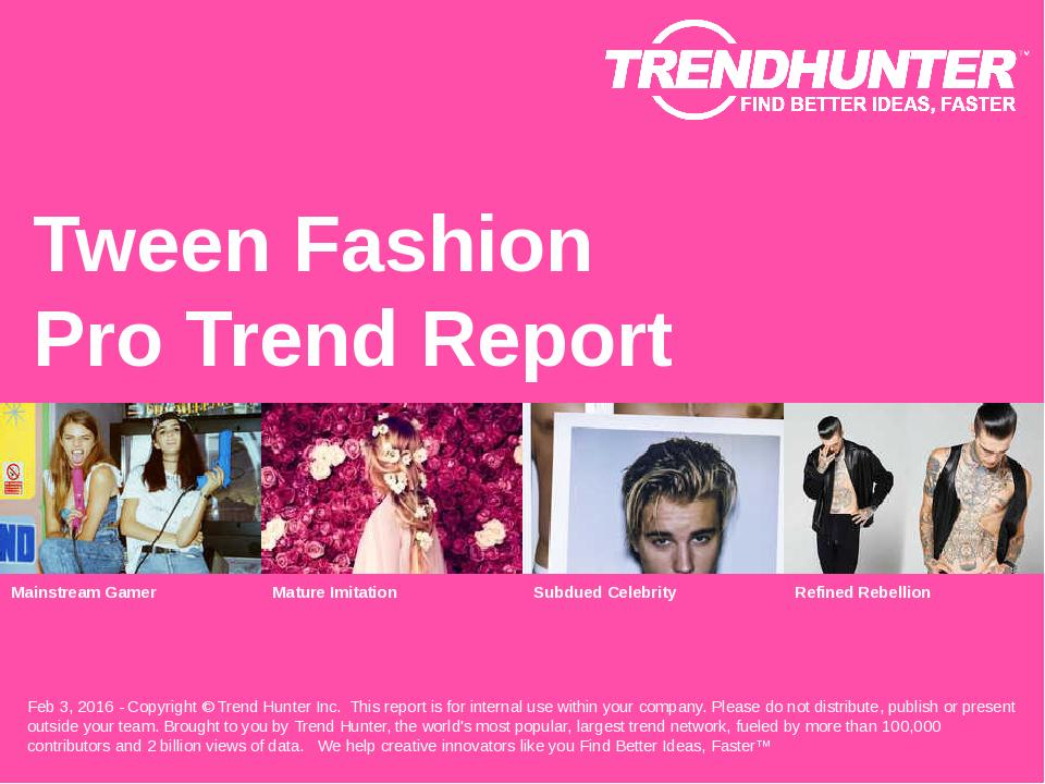 Tween Fashion Trend Report Research