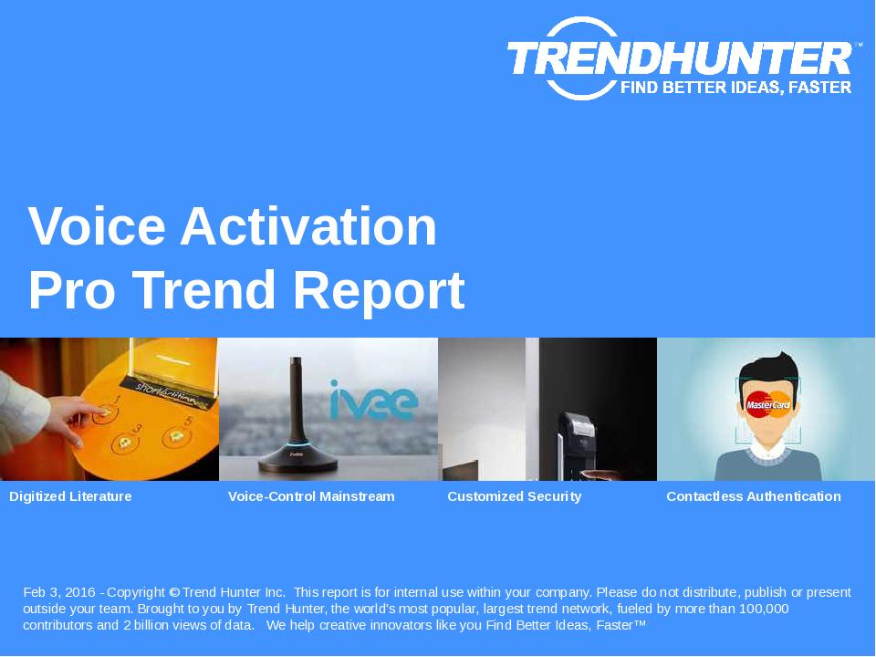 Voice Activation Trend Report Research