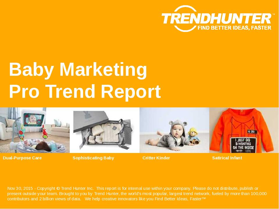 Baby Marketing Trend Report Research
