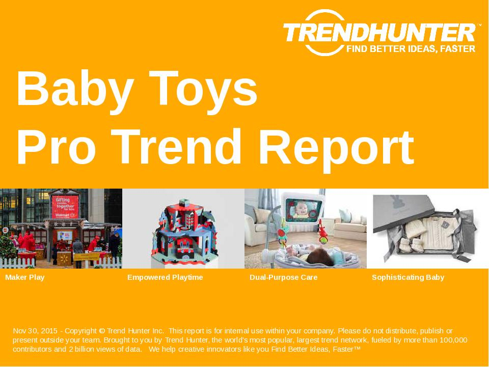 Baby Toys Trend Report Research