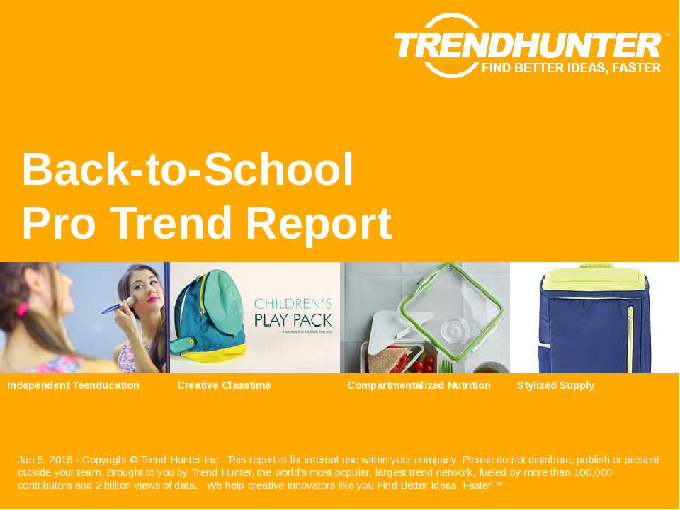 Back to School Trend Report Research