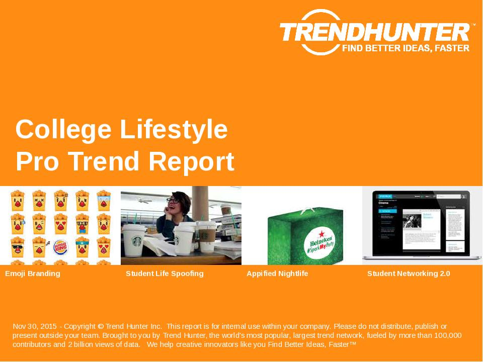 College Lifestyle Trend Report Research