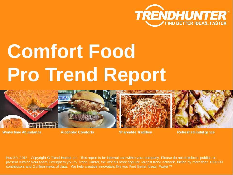 Comfort Food Trend Report Research