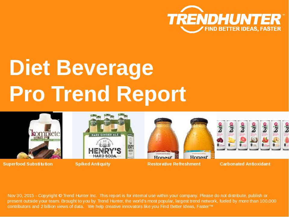 Diet Beverage Trend Report Research