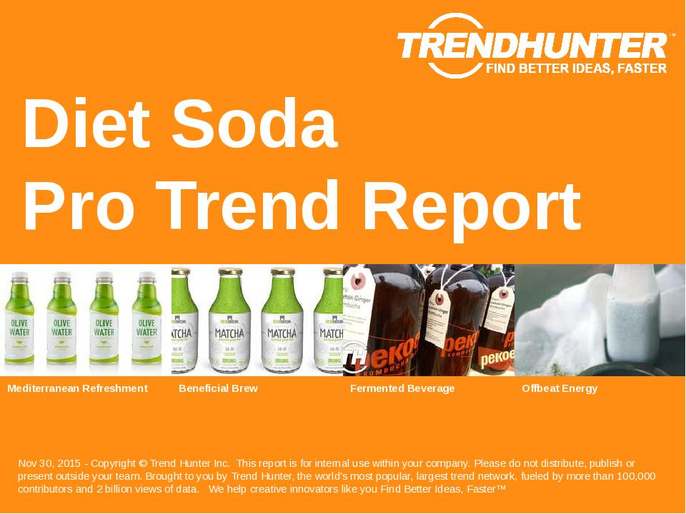 Diet Soda Trend Report Research