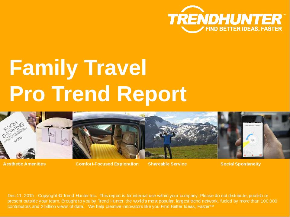 Family Travel Trend Report Research