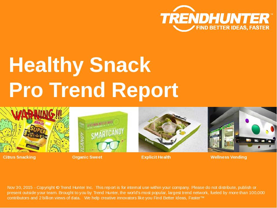 Healthy Snack Trend Report Research