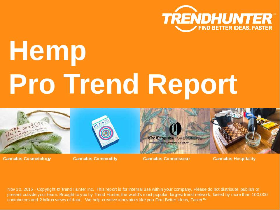 Hemp Trend Report Research