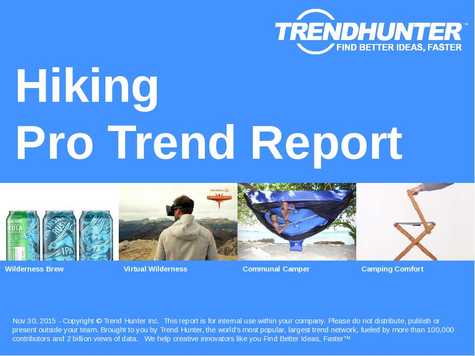 Hiking Trend Report Research