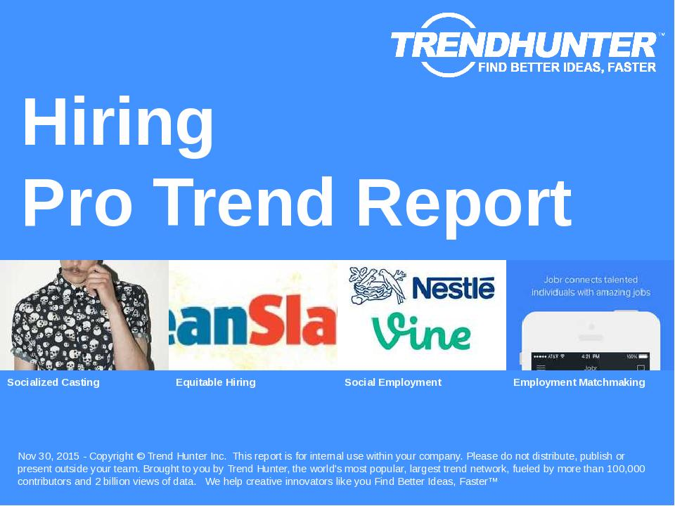 Hiring Trend Report Research