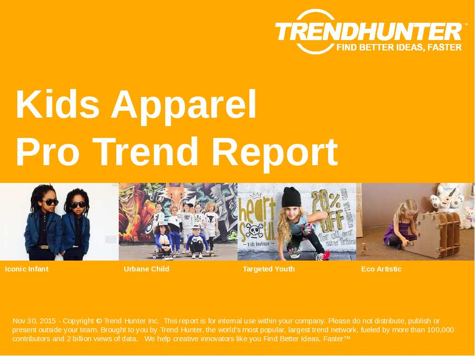 Kids Apparel Trend Report Research