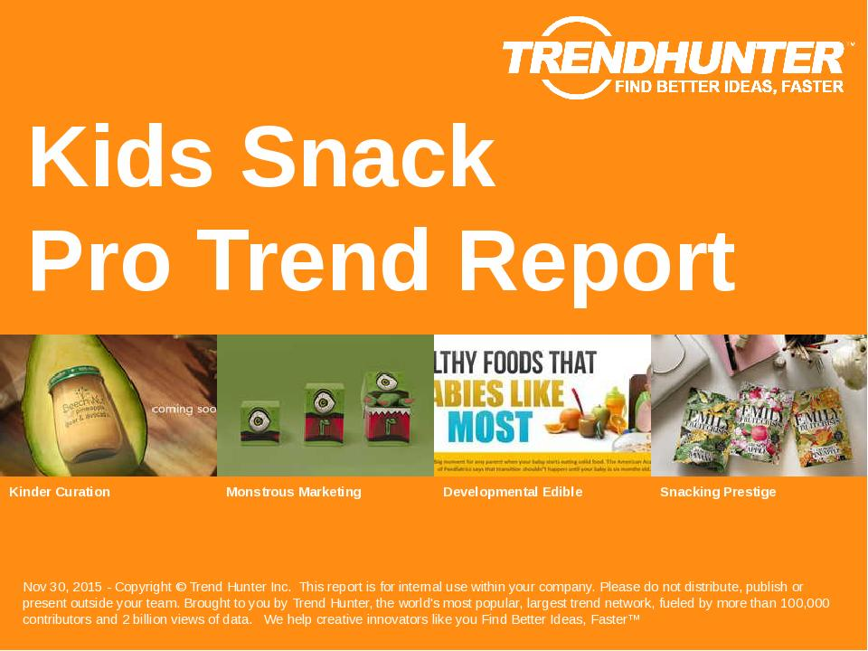 Kids Snack Trend Report Research