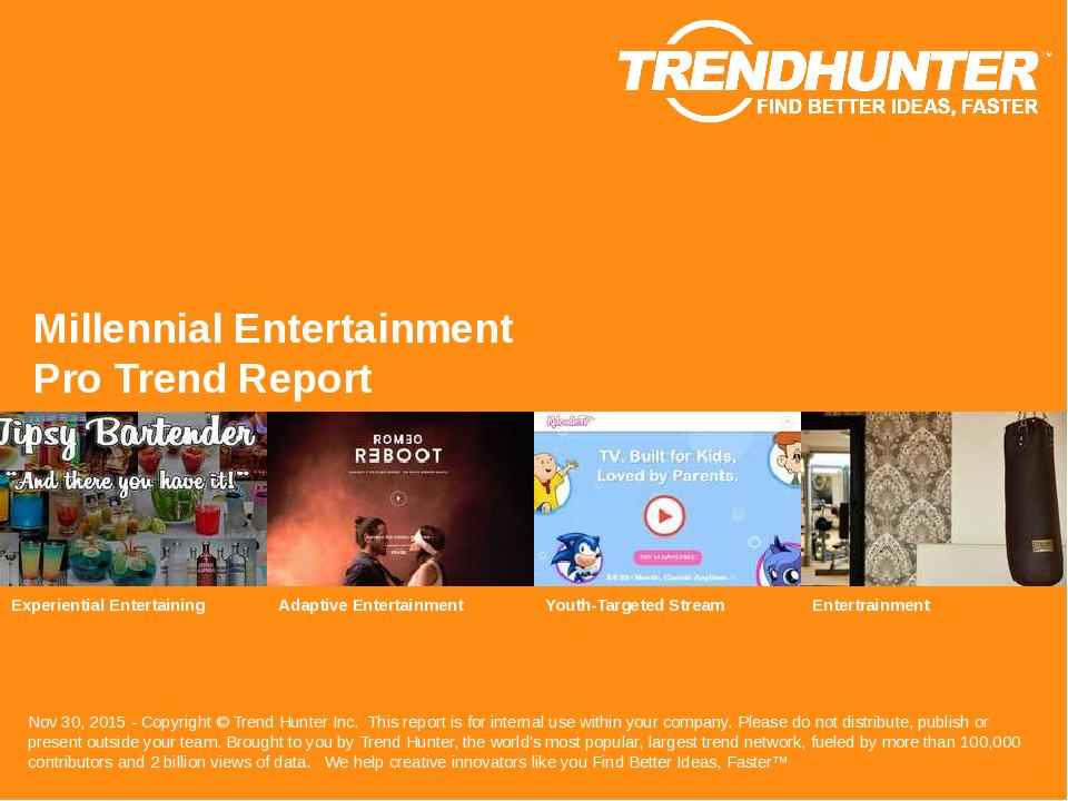 Millennial Entertainment Trend Report Research