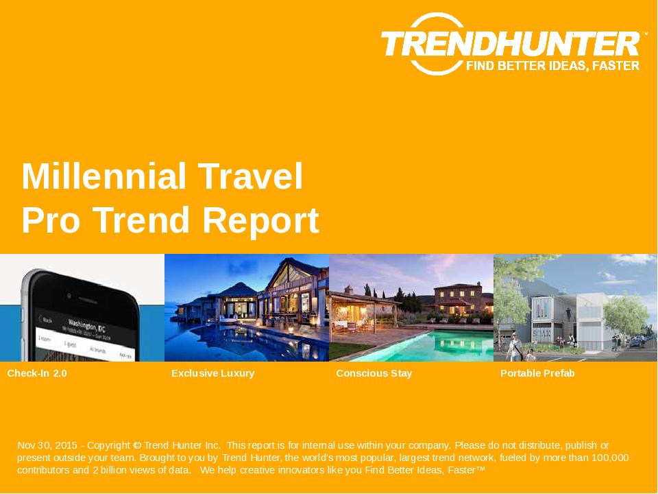Millennial Travel Trend Report Research