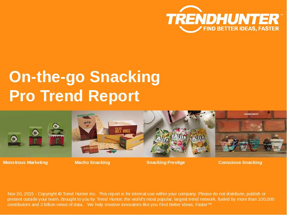 On-the-go Snacking Trend Report Research