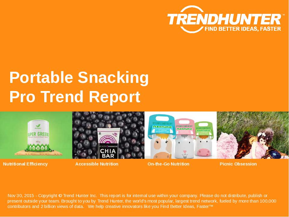 Portable Snacking Trend Report Research