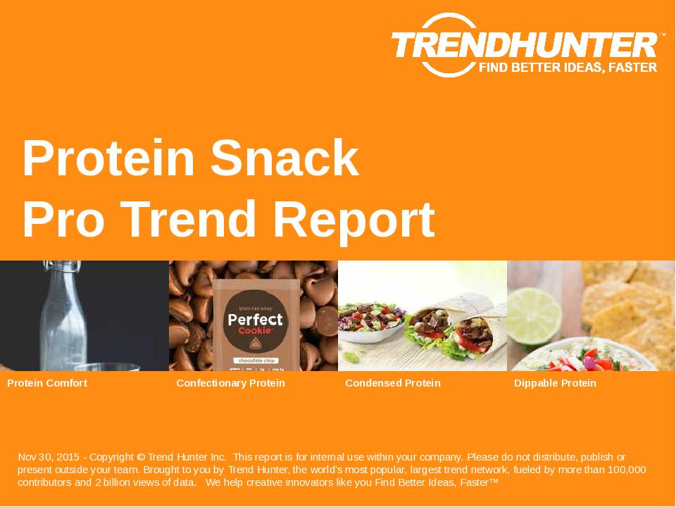 Protein Snack Trend Report Research